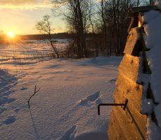 зимний закат