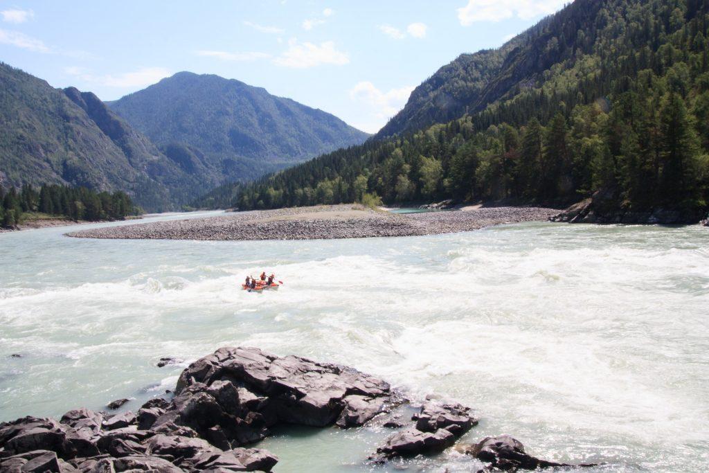 Сплав на горном Алтае по реке Катунь